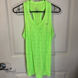 Neon Green Nike Dri Fit Tank